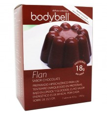 Bodybell Flan Chocolate 7 Saquetas