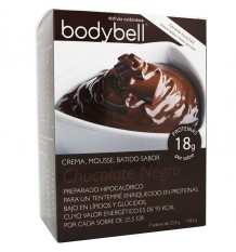 Bodybell Crema Mousse Chocolate Negro 7 Sobres