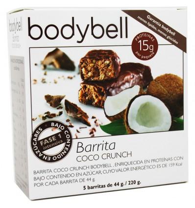 Bodybell Barrita Coco Crunch 5 unidades