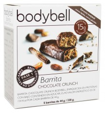Bodybell Barra De Chocolate Crunch 5 Unidades