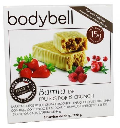 Bodybell Barritas Frutos Rojos Crunch 5 Unidades