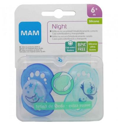 Mam baby Chupete Night Silicona azul