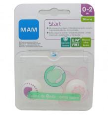 Mam Baby Schnuller Start Silikon 0-2 Monate, rosa