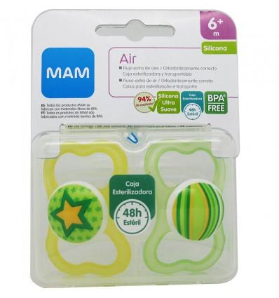 Mam Chupete Air Silicona 6 meses Mixto