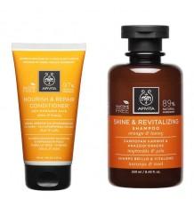 Apivita Pack Helligkeit Vitalität Shampoo Conditioner