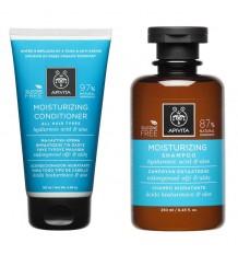 Apivita Pack Feuchtigkeitsspendende Shampoo Conditioner