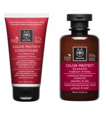 Apivita Pack Farbe Schutz Shampoo Conditioner