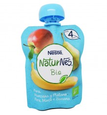 Naturnes Bio Pouch Pear Apple Banana 90 g