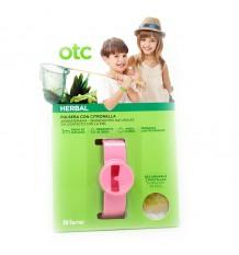 Otc Anti Mosquito Herbal Bracelet Citronella Pink