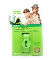 Otc Anti-Moskito-Kräuter-Armband Aus Citronella Grün