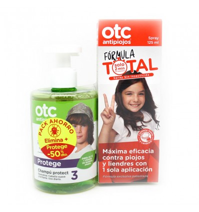 Otc Antipiojos Formula Total Pack Spray + Champu