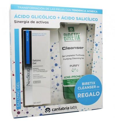 Neostrata Salizinc Gel Refine 50 ml Pack Biretix Cleanser 150 ml