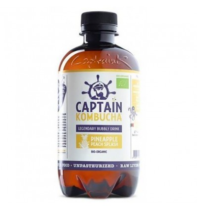 Captain Kombucha Bebida Probiotica Piña Melocoton 400 ml