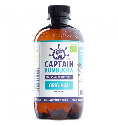 Captain Kombucha Bebida Probiotica Oiginal 400 ml