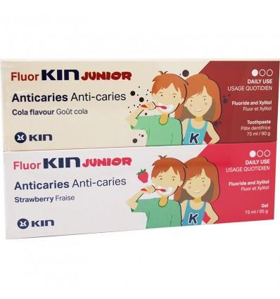 FluorKin Junior Dentifrice anti-caries duplo 150 ml