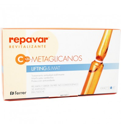 Repavar Revitalizante C Metaglicanos Lifting Mat 30 ampollas