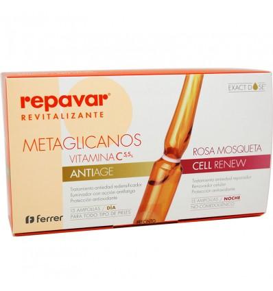 Repavar Revitalizante Metaglicanos Cell Renew Antiage 30 ampolas
