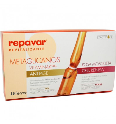 Repavar Revitalizing Metaglicanos Cell Renew Antiage 30 ampoules