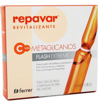 Repavar Revitalizing C Metaglicanos Flash Extreme 5 Ampoules