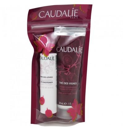 Caudalie La Des Vignes Crème Mains 30 ml à Lèvres 4,5 g Pack Duo