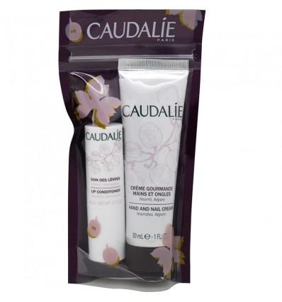 Caudalie Crème Mains 30 ml à Lèvres 4,5 g Pack Duo