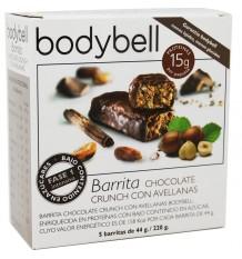 Barres de Chocolat aux Noisettes Bodybell 5 Unités