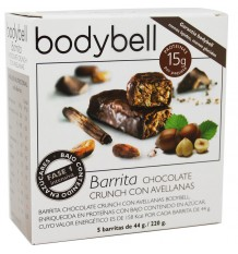 Bodybell Barritas Chocolate Avellana 5 Unidades
