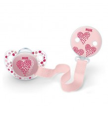 Nuk Pacifier Silicone With Tape 18-36 months pink