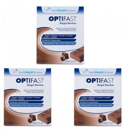 Tablettes de Chocolat Triple Optifast 18 unités