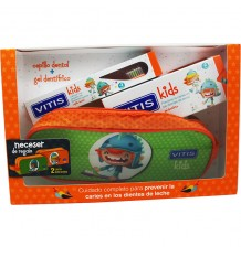 Vitis Kids Cepillo Gel Fresa 50 ml Estuche Pack