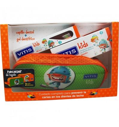 Vitis Kids Escova de Gel Morango 50 ml Estojo Pack