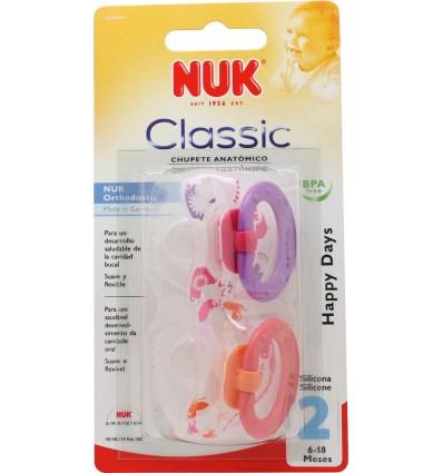 Nuk Chupete Silicona Classic T2 6-18 2 unidades