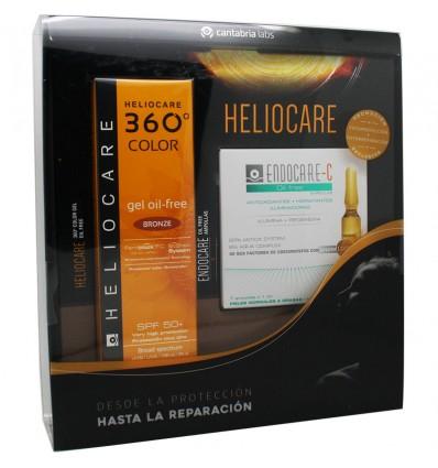 Heliocare 360 Color Gel Oil free Bronze 50 ml 7 Ampollas Oil Free Regalo