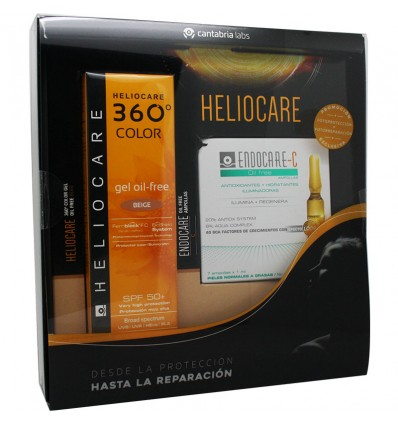 Heliocare 360 Color Gel Oil free Beige 50 ml 7 Ampollas Oil Free Regalo