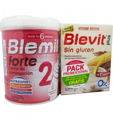 Blemil Plus 2 Forte Nutriexpert 800 gr Sin Gluten 90 g Gratis