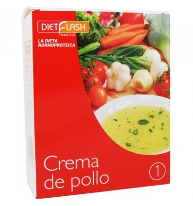 Dietflash Crema Pollo 6 Sobres