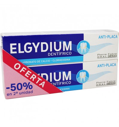 Elgydium Dentifrico Pasta Antiplaca 75 ml Duplo