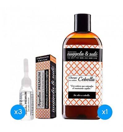 Nuggela Sule Xampu Cebola 250 ml 3 Ampolas Premium