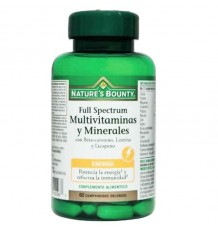 Nature's Bounty Full Spectrum Multivitaminas y Minerales 60 Comprimidos