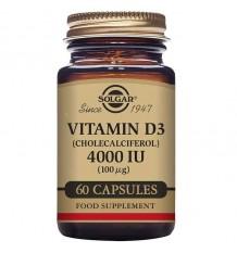 Solgar Vitamina D3 4000 ui 60 Capsulas
