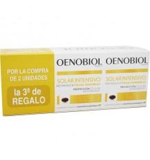 Oenobiol Solaire Intensif Peaux Sensibles, 90 caps triple ligne