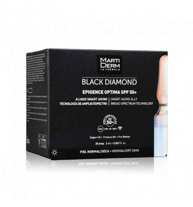 Martiderm Black Diamond Epigence Optima SPF50 30 ampolas