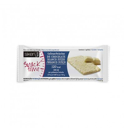 Siken Form Snack Galleta Chocolate Blanco 22g