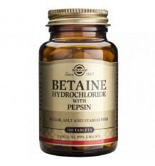 Solgar Betaina Clorhidrato Pepsina 100 Comprimidos