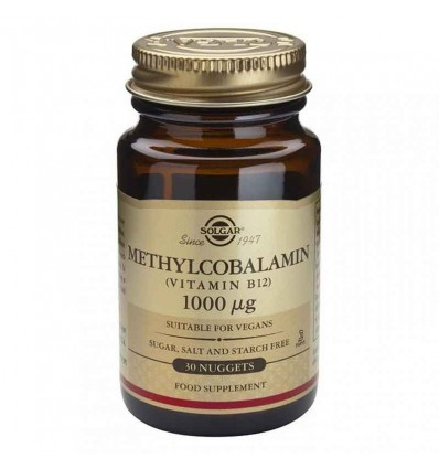 Solgar Vitamina B12 Metilcobalamina 1000 µg 30 Comprimidos Masticables