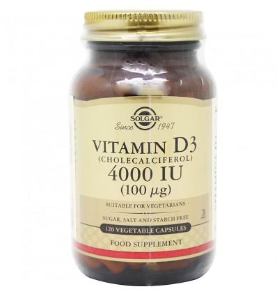 Solgar Vitamina D3 4000UI 120 Capsulas