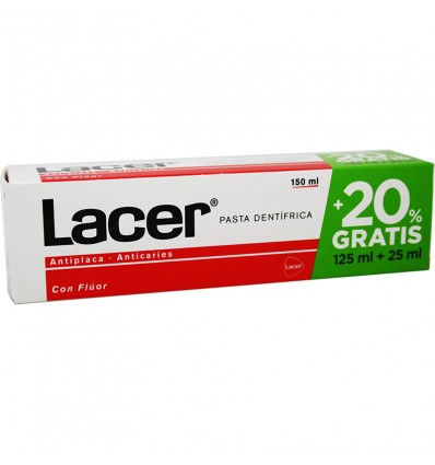 Lacer Pasta dental 125 ml 25 ml Gratis