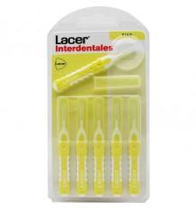 Thin straight interdental brush lacer