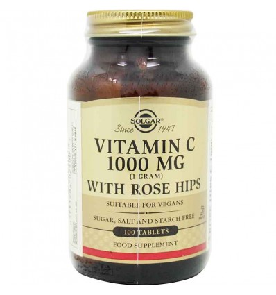Solgar Vitamina C Rose Hips 1000mg 100 comprimidos