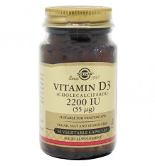 Solgar Vitamina D3 2200UI 50 Cápsulas